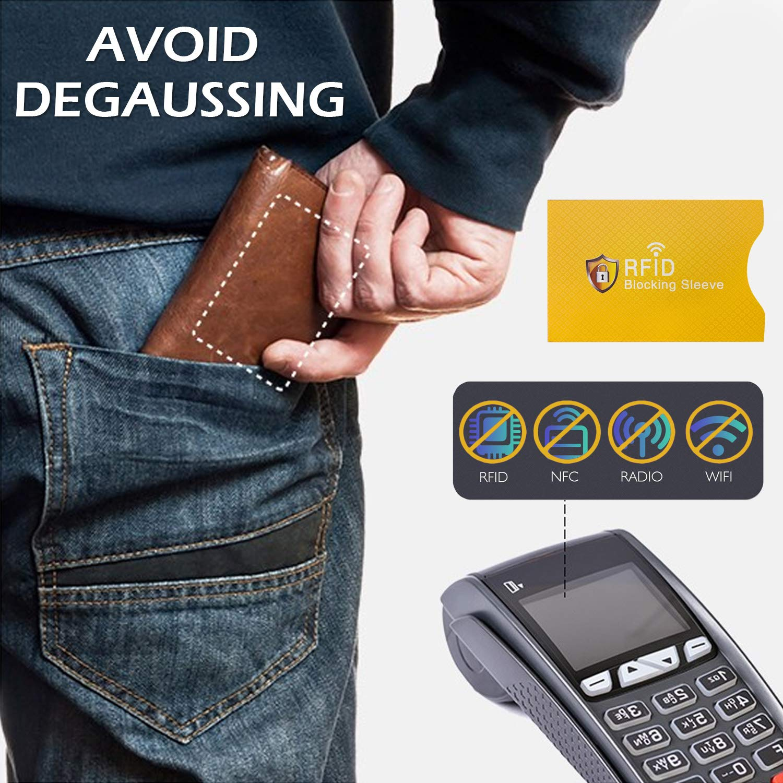 Scatola di casi di blocco del segnale RFID con 5pcs Shielding Pouch for Car Key Fob KeyCell Phones Cards Privacy Protection