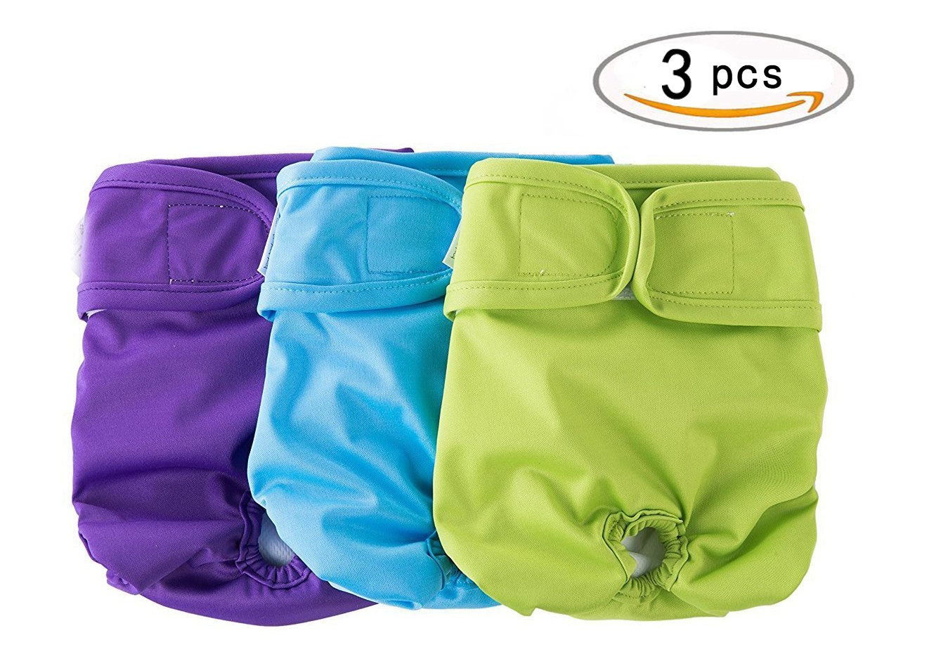 3 Pcs/set Female Dog Diapers Washable & Resuable for Girls Doggie Leak-Proof Wrap Sanitary Panties Pupteck