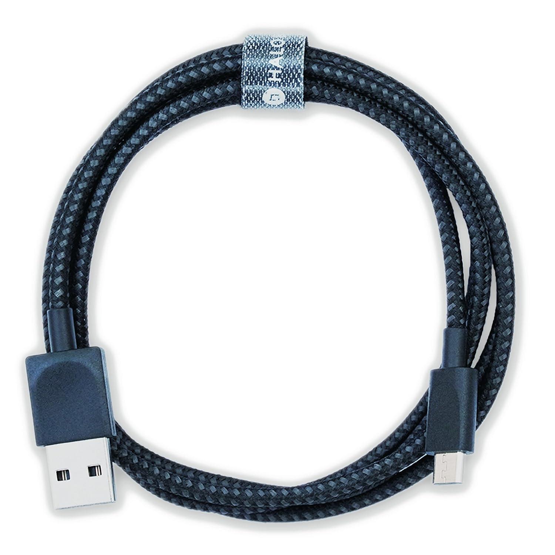 Halo Back Micro USBケーブル、4フィート1.2 M、ロングプレミアムナイロン編みAndroid充電器USB to Micro USB充電ケーブルSamsung充電器コードSamsung Galaxy s7 Edge/s7 /s6 /s4 /s3、Note 5 /4 /3 (ブラック) B077HMR87W