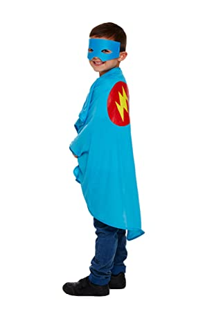 Disfraz infantil superhéroe azul Talla Única