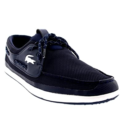 941a33b35 Lacoste Mens Landsailing Lace Up Deck Shoes Boat Shoes Casual Trainers -  Dark Blue White