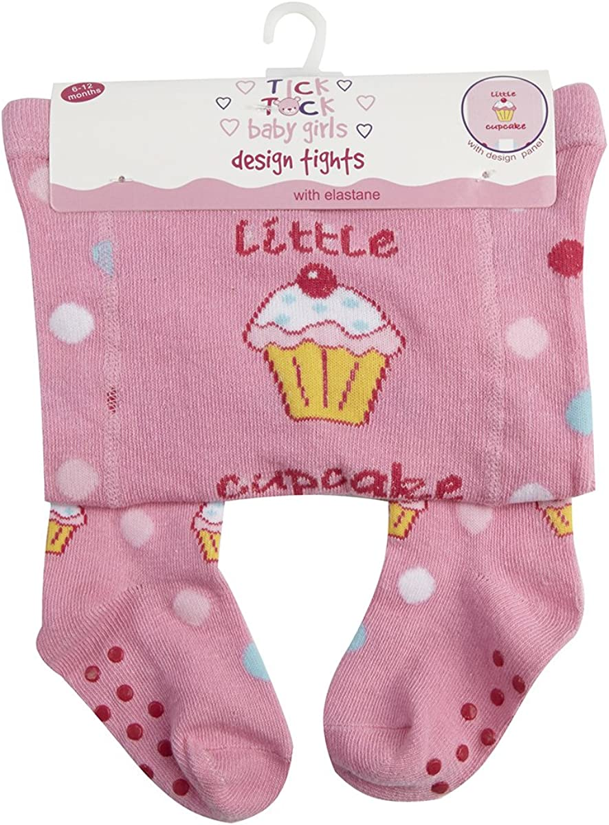 TICK TOCK Baby Babies Girls Design Tights Panel Cotton Rich Printed Warm Comfy