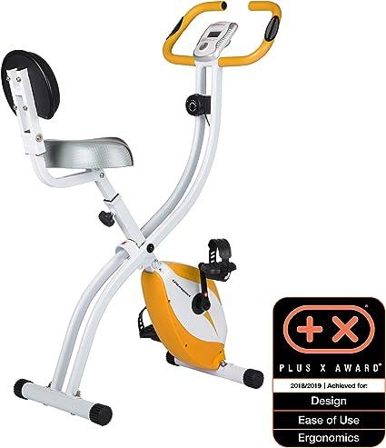 Ultrasport F-Bike 200B Bicicleta estática con sensores de Pulso de Mano, F-Bike 200B con Respaldo, Plegable, Unisex, Naranja: Amazon.es: Deportes y aire libre