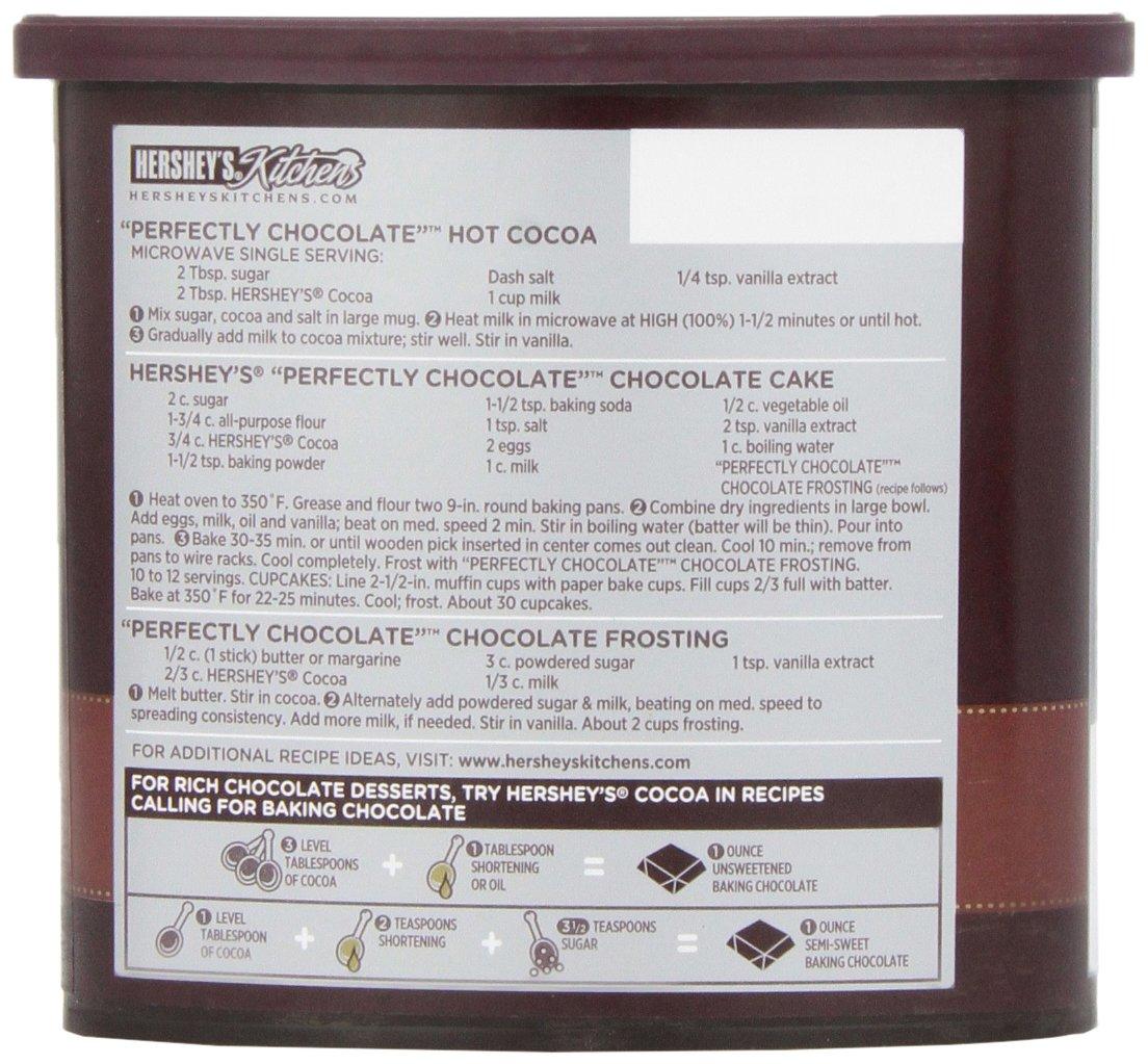 Amazon.com : HERSHEY\'S Natural Unsweetened 100% Cocoa, Baking ...