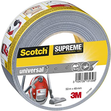 Silver Scotch 50 m x 48 mm Supreme Ultra Resistant Duct Tape