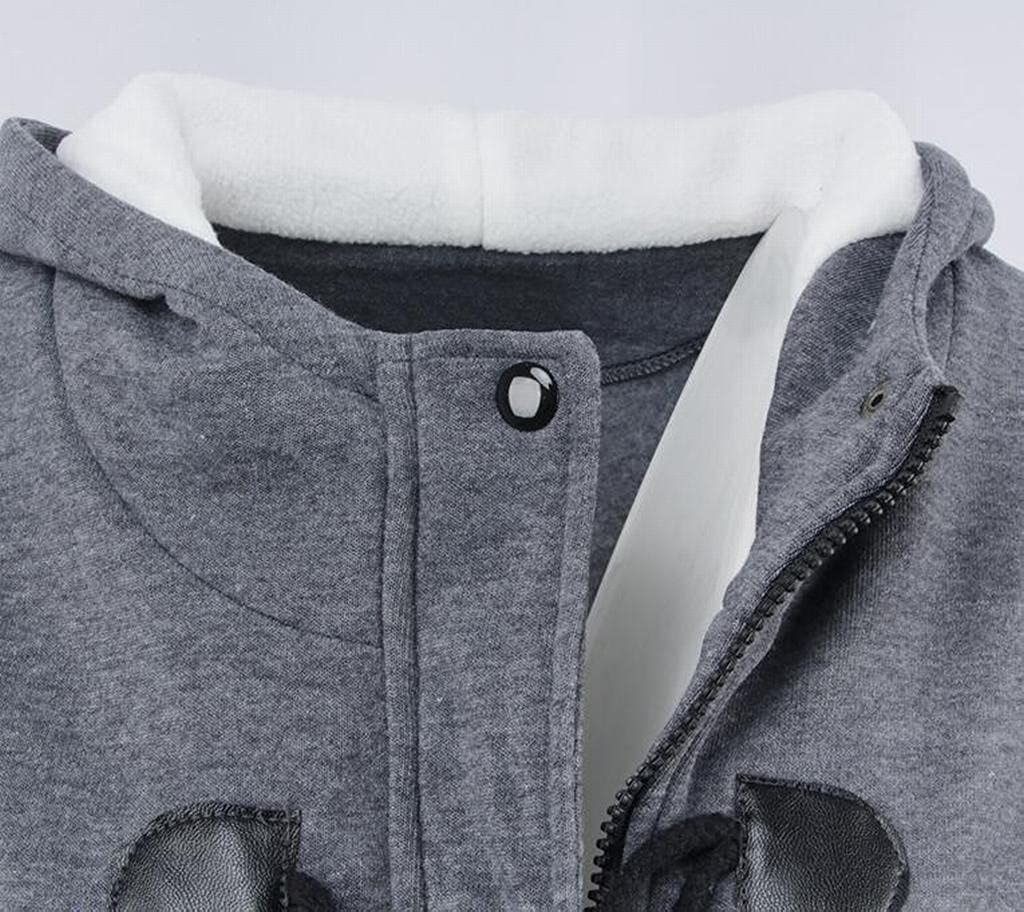 BOBOYU-Women Vintage Hooded Thicken Toggle Coat Wool Outerwear Coats