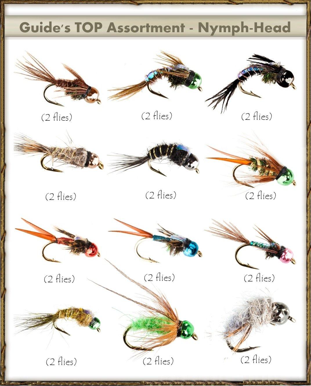Next Generation Flies - NYMPH-HEAD Assortment (24 flies)