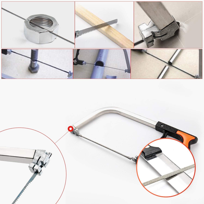 WiMas 13PCS Universal Handsaws Set Tile Handheld Hacksaw Tile Saw Multi-Purpose Handsaw Set for Plastic Metal Ceramic Woodworking Tools Glass