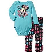 Disney Baby Girls' Mickey Creeper Pant Set - Blue - 0-3 Months