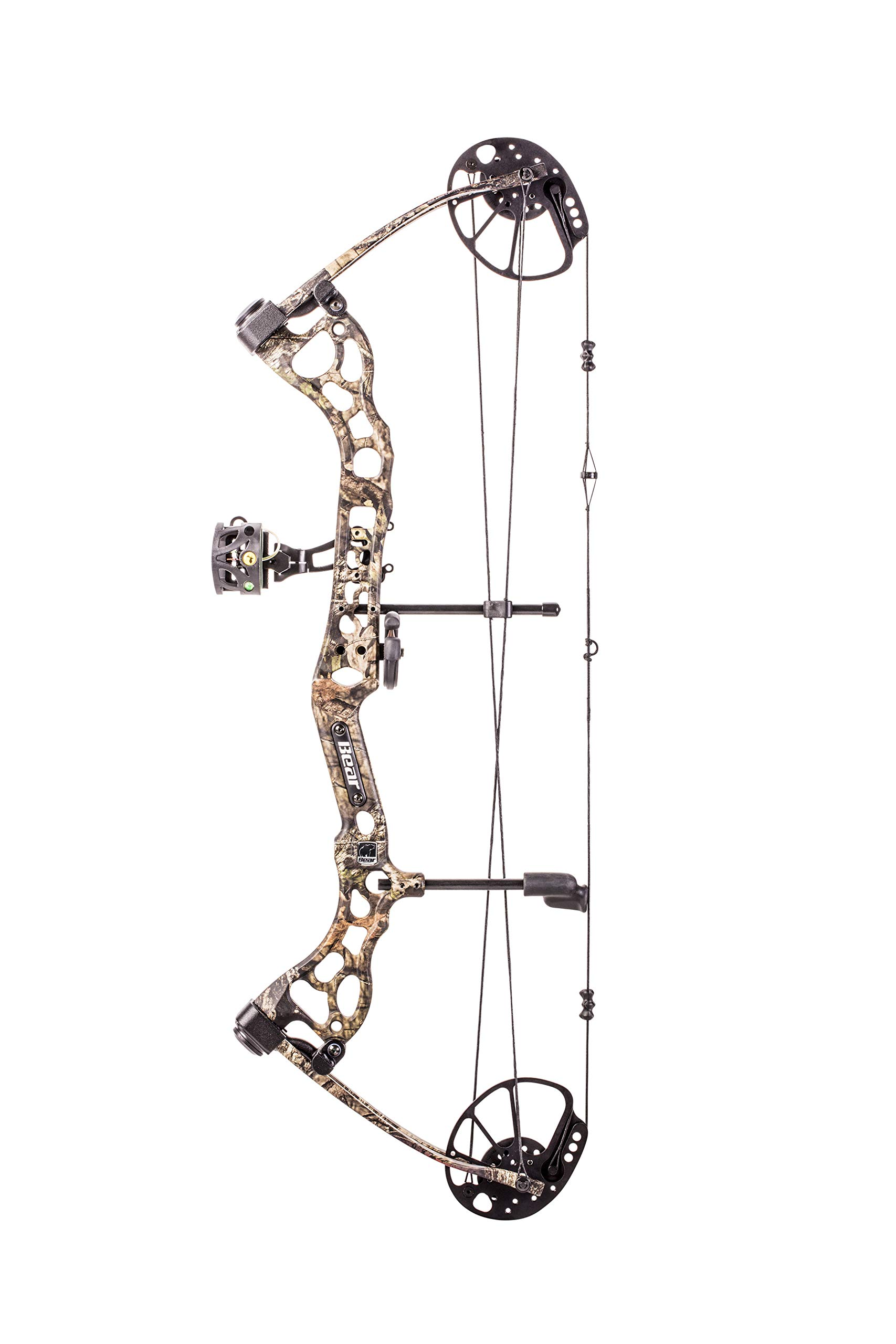 Bear Archery Pledge Compound Bow Includes Trophy Ridge Mist 3-Pin Sight, Whisker Biscuit, Peep Sight, and D-Loop