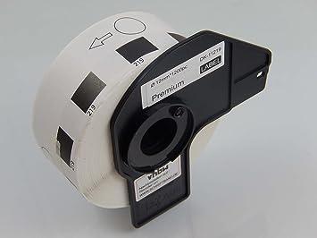 1200 vhbw ETIKETTEN 12mm WASSERFEST für BROTHER P-touch QL-650TD QL-700