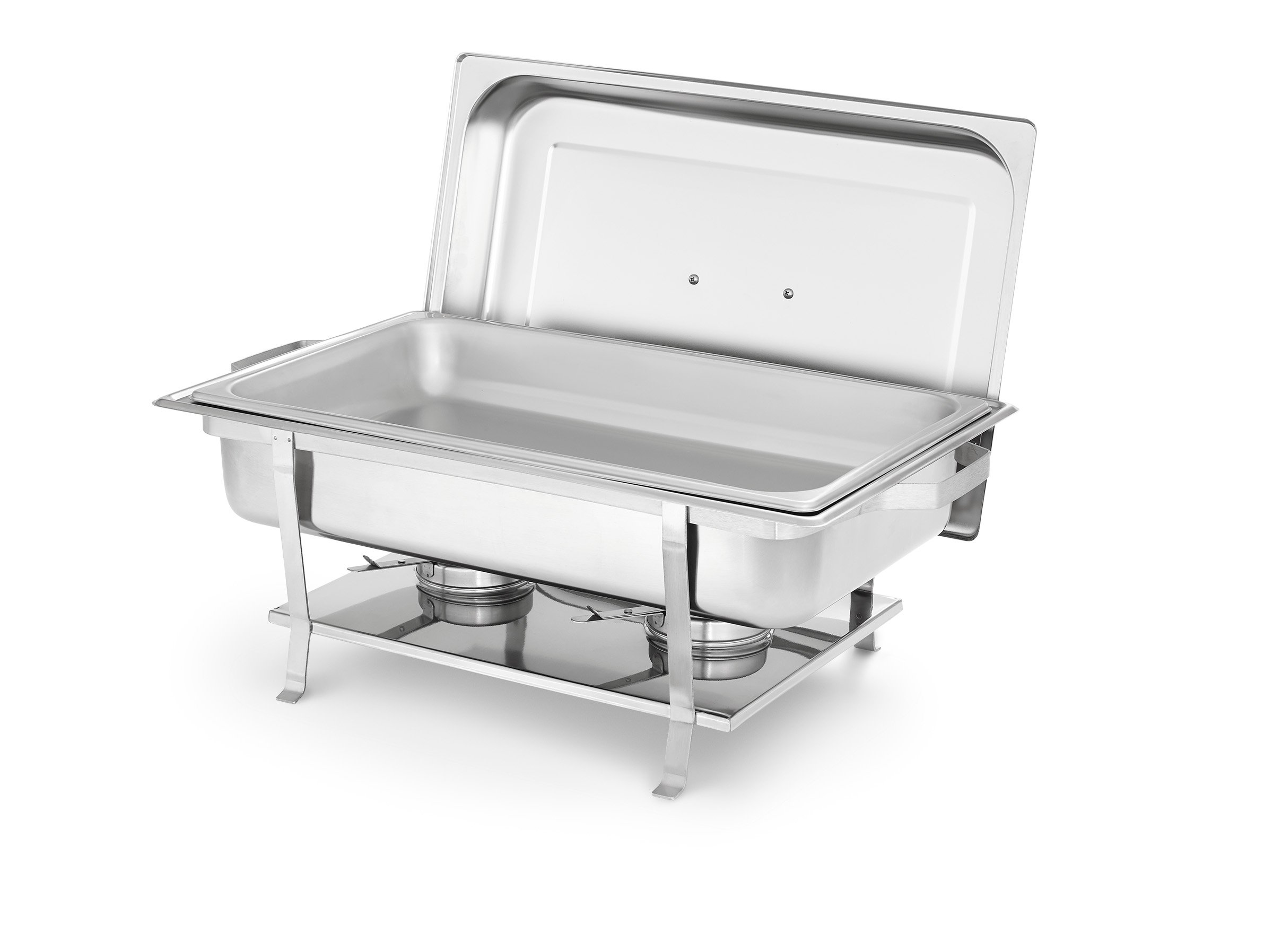 Artisan Stainless Steel Rectangular Buffet Chafer with Welded Frame, 8-Quart Capacity
