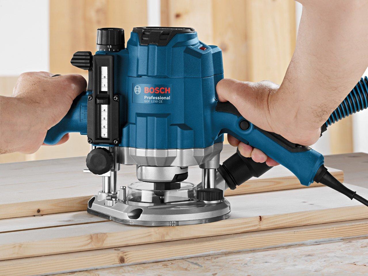 Bosch Professional 0601626000 D/éfonceuse GOF CE 1250 W 10000-24000 tours//min