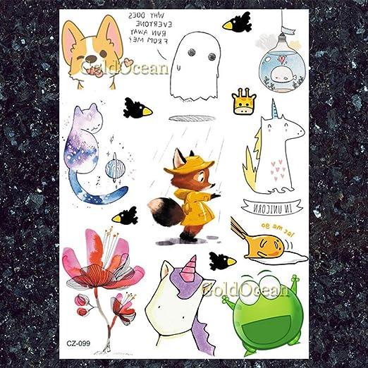 tzxdbh 5Pcs- Gatos Dibujos Animados para Niños A Granel Tatuajes ...