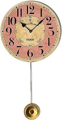 Flottant Pink Pendulum Clock Glass