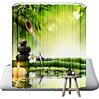 Neween Shower Curtains 3D Digital Printed Waterproof Washable Bathroom Curtain 100% Polyester Fabric Bath Curtain with…