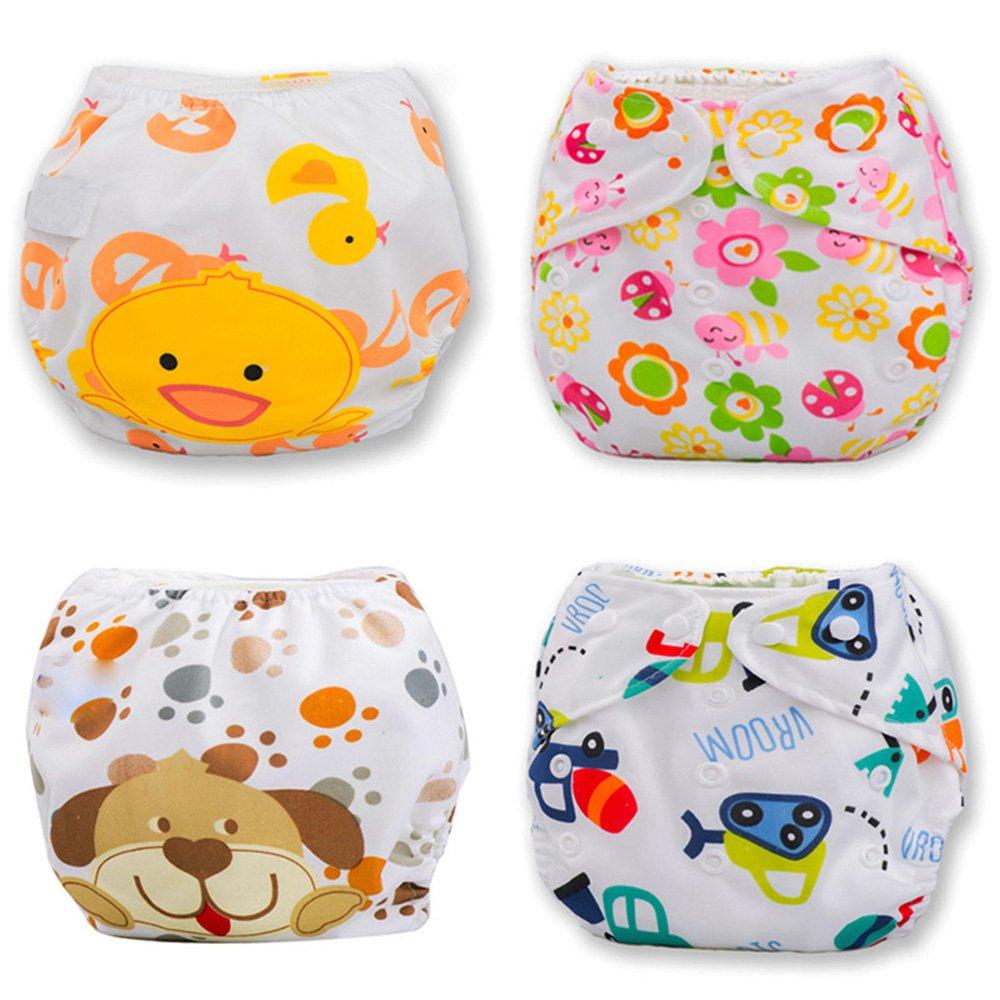Binglinghua® 3pcs Baby Swim Diapers Pants Leakproof Reusable Adjustable Diaper Covers