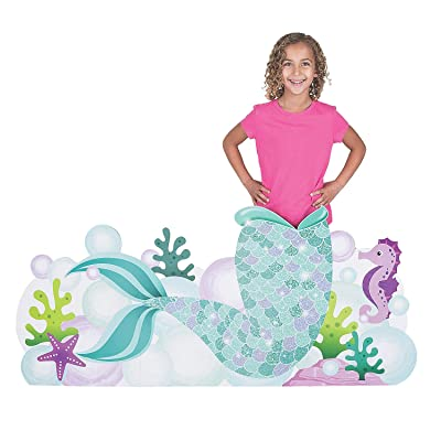 Mermaid Tail Photo Stand up (4 feet long) Mermaid Sparkle Party Decor: Toys & Games