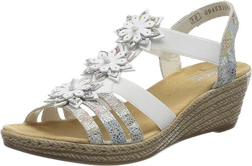 Rieker Damen FrühjahrSommer 62461 Geschlossene Sandalen