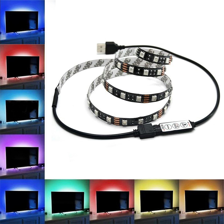 TV Fondo USB tira LED DC RGB 200 cm 2 metros televisor, PC, LCD ...