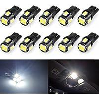 Wincar Super Bright T10 LED Bulbs 6000K White 194 168 175 2825 W5W T10 Wedge LED Light Bulbs 6smd 5630 Chip for Car…