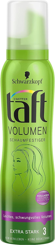 Schwarzkopf 3 Wetter Taft Schaumfestiger, Volumen Normales Haar Extra Starker Halt 3, 6er Pack (6 x 150 ml) TBV21