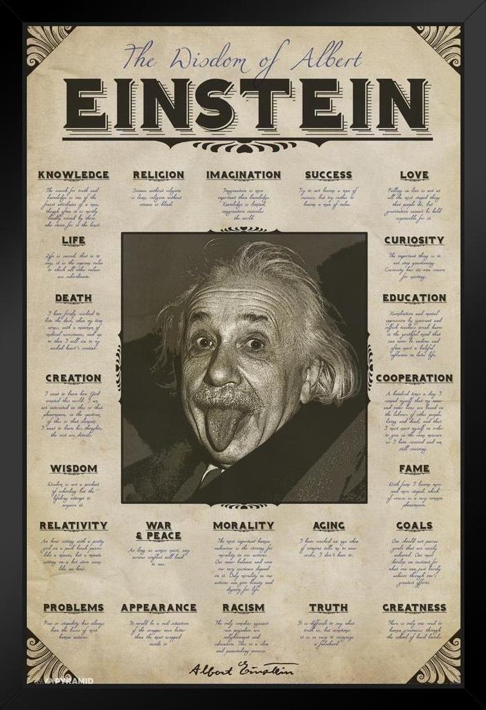 Amazoncom Pyramid America Wisdom Of Albert Einstein Famous Quotes