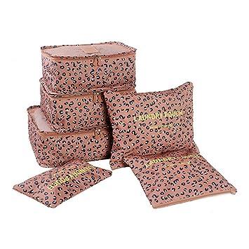 Voyage Tailles Sac Organisateur Pièces 6 Variées Cube Emballage Set j3LR54A