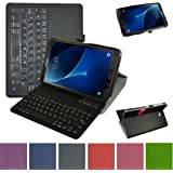 TAB A 10.1 2016 Bluetooth Keyboard Case,Mama Mouth Coustom Design Slim Stand PU Leather Cover With Romovable Bluetooth Keyboard For SAMSUNG GALAXY TAB A 10.1 T580 T585 Android Tablet 2016,Black