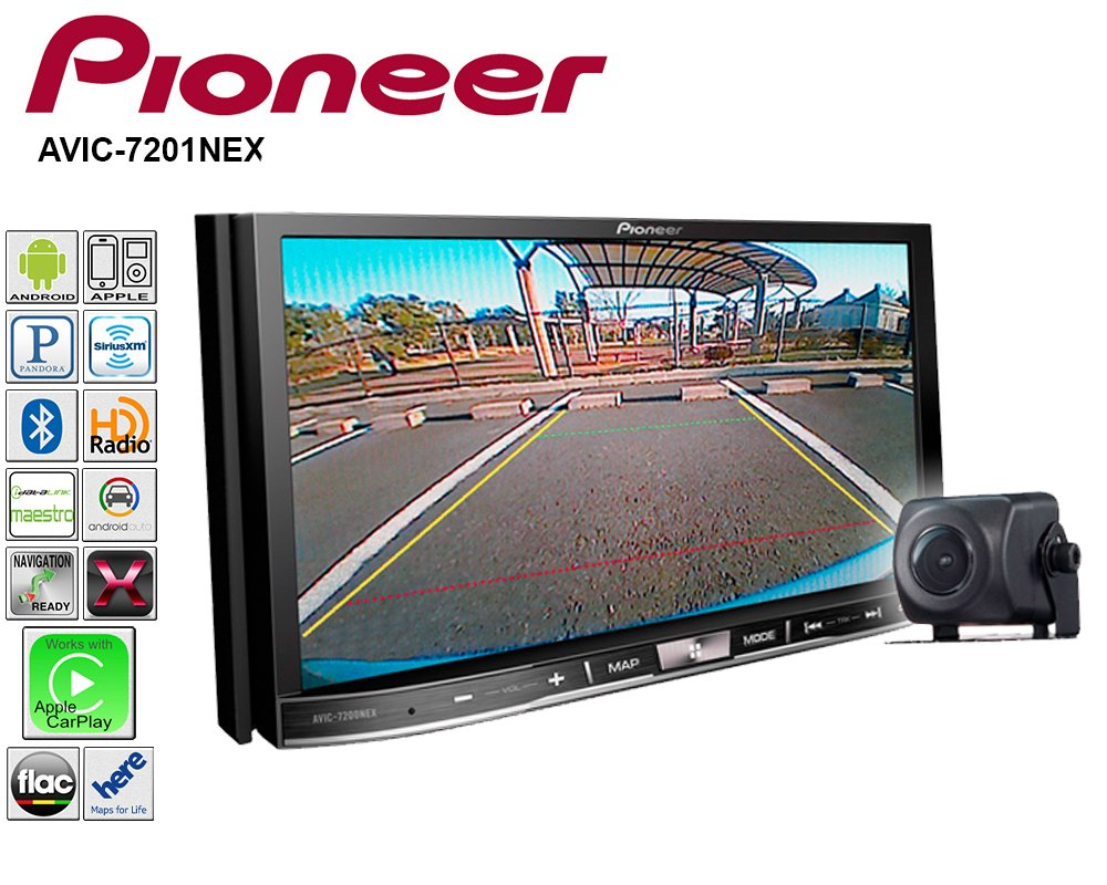 Pioneer AVIC-7201NEX Double Din Radio Install Kit with GPS Navigation Apple CarPlay Android Auto Fits 2005-2007 Mercedes C Series by Pioneer Volunteer Audio (Image #4)
