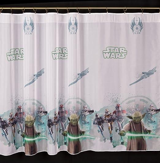 150cm Breite x 157cm Lange Kinderzimmer Gardine mit Schlaufen Disney Star Wars