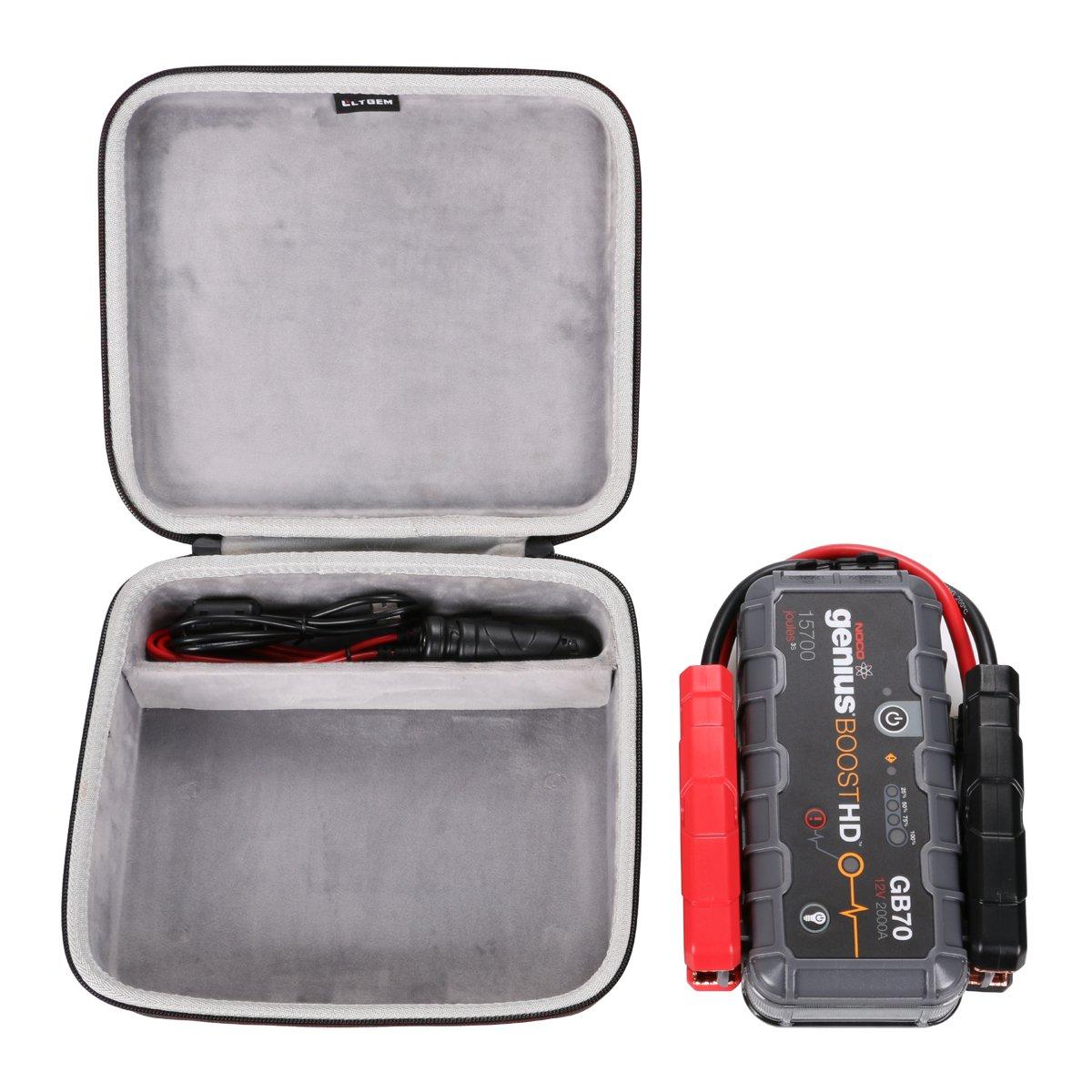 LTGEM EVA Hard Case Compatible with NOCO Genius Boost HD GB70 2000 Amp 12V UltraSafe Lithium Jump Starter