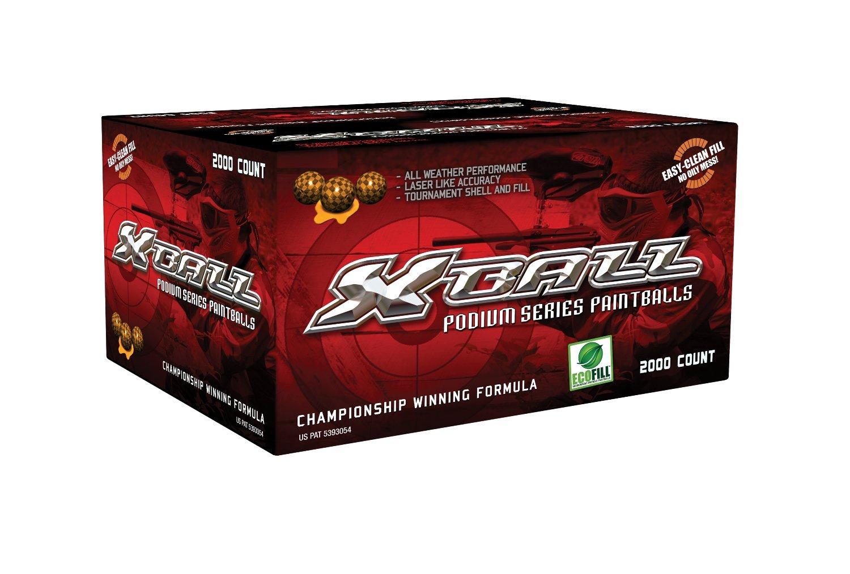 G.I. SPORTZ Podium Series Xball Podium Series Paintballs -Orange/- Fill 2000CT, Orange