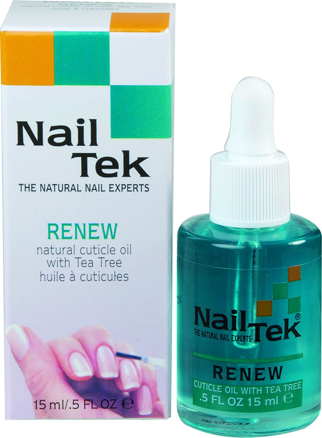 Nailtek Renew Natural Cuticle Oil with Tea Tree, 0.5 Fluid Ounce 809