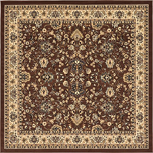 A2Z Rug 8-Feet-by-8-Feet Covent Garden Persian Traditional Design Rug, Brown