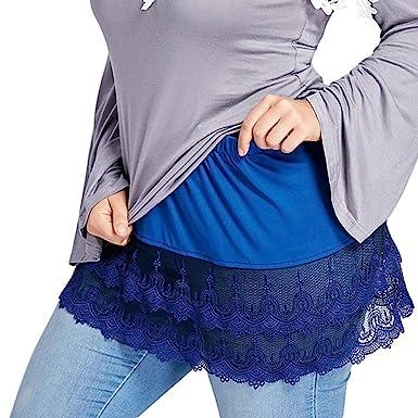 Covermason Faldas Mujer En Capas Escarpado Cordón Recortar ...