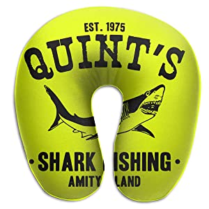 DLOAHJZH-Q Quint's Shark Fishing Mens & Womens Unisex Travel Nap Sleep Rest U Pillow