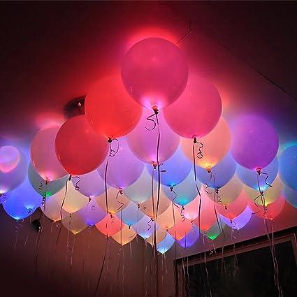 Amazon 30 pack of luminous led light up balloons dazzling 30 pack of luminous led light up balloons dazzling multicolor led party balloon helium aloadofball Choice Image