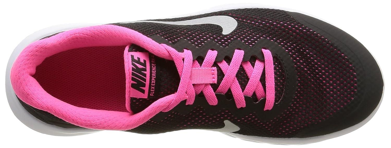 Nike Flex Experience 4 (GS) Scarpe Sportive, Ragazza, Black/Metallic Silver-Pink Pow, 38.5