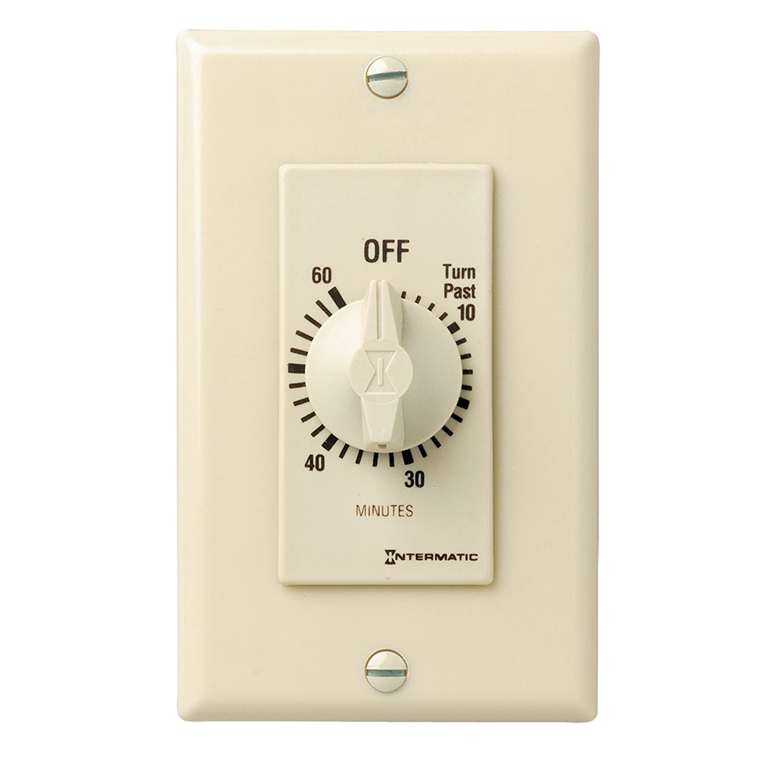 Ivory Intermatic FD460M 60-Minute Spring-Loaded Wall Timer for ...