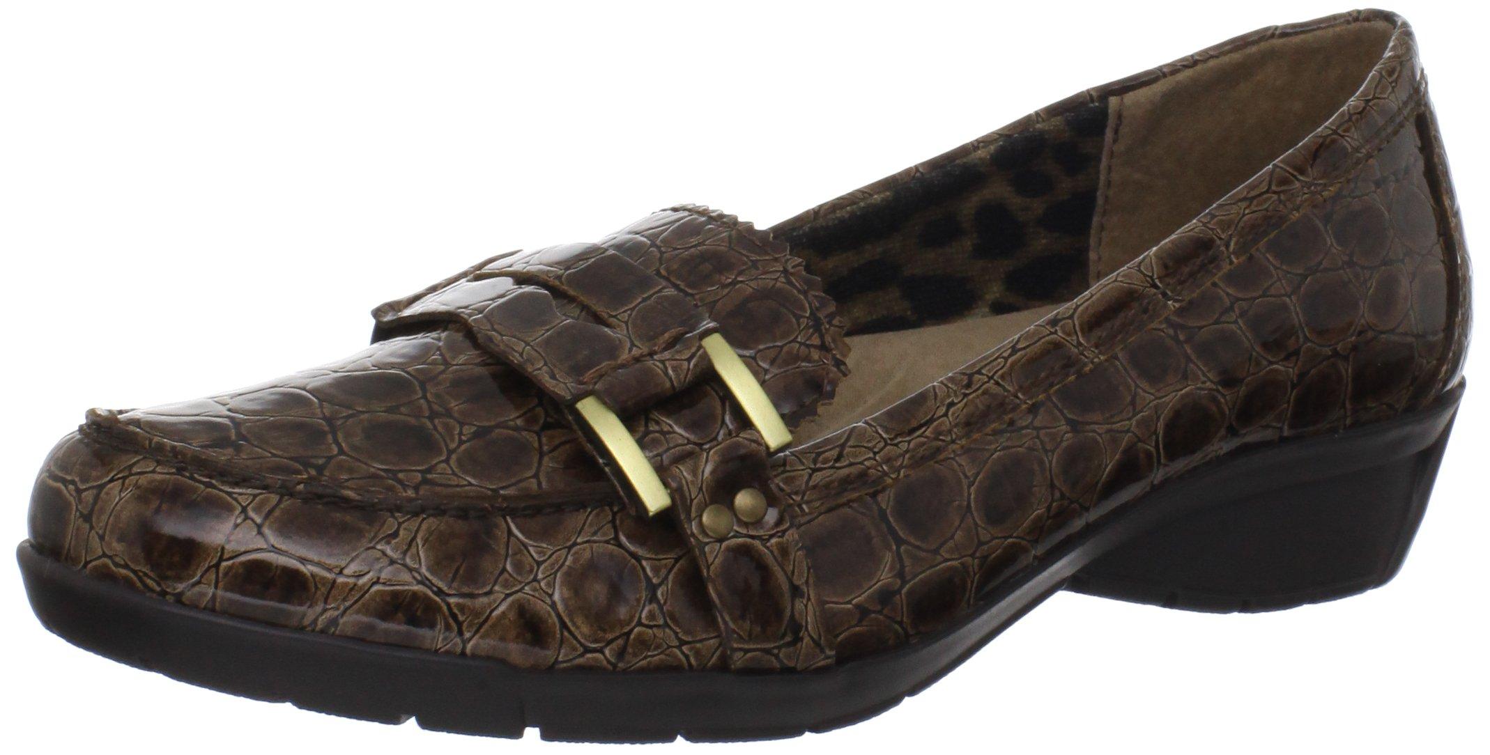 Bella Vita Women's Tatum II Loafer,Saddle Patent Croco,8 W US