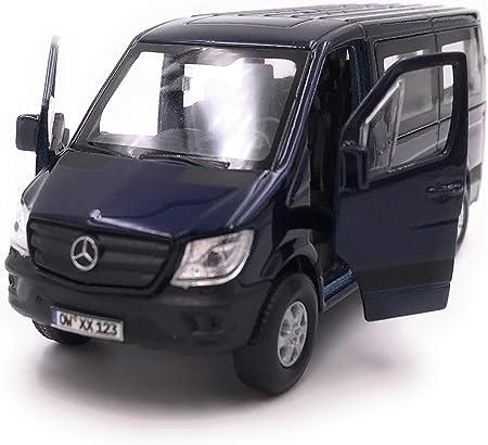 Onwomania Sprinter Fenster Blau Modellauto Mit Wunschkennzeichen Auto Maßstab 1 34 Lizensiert Auto