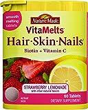 Nature Made Vitamelts Hair Skin Nails Tablets, Strawberry Lemonade, 60 Count