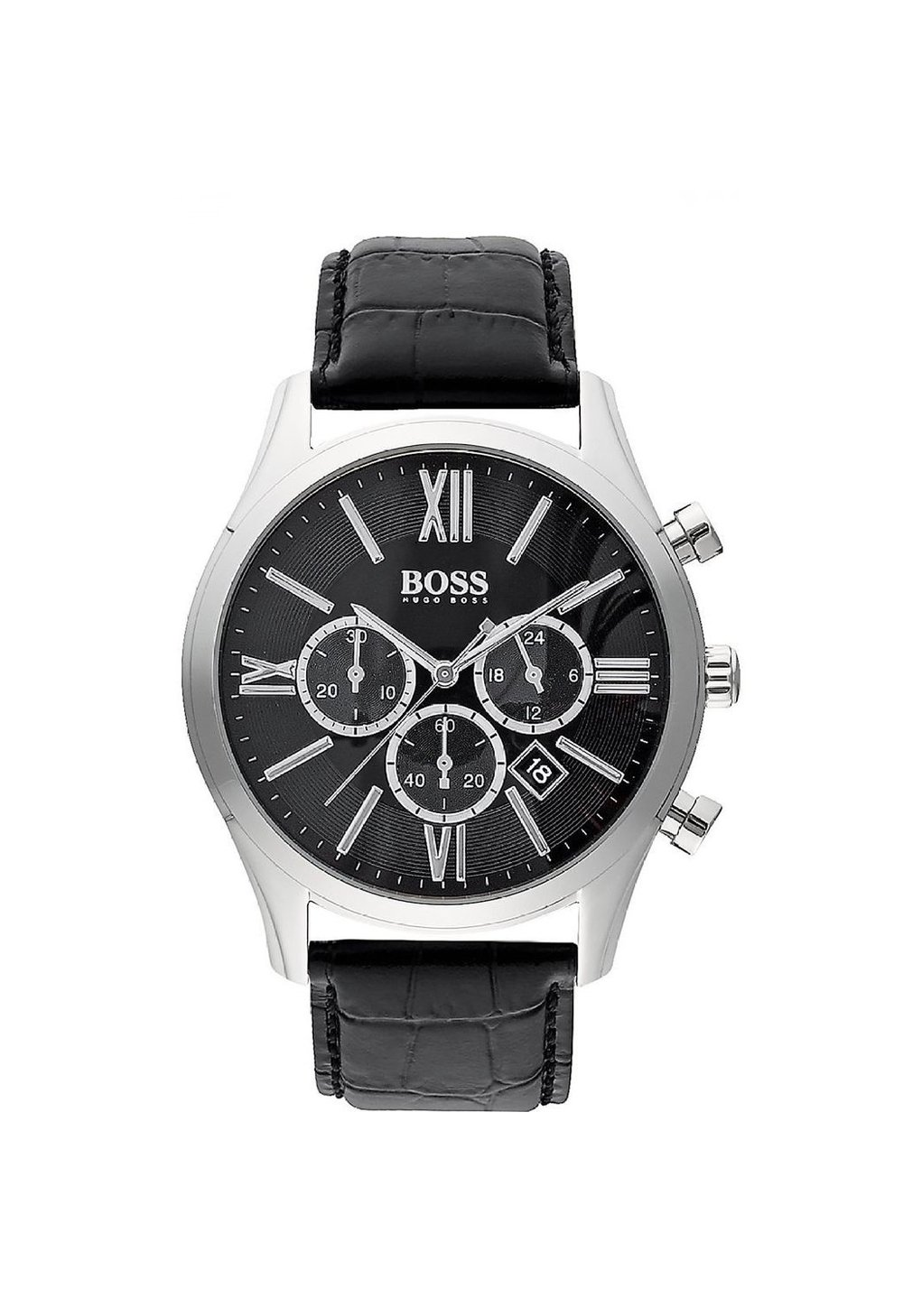 Hugo Boss Men's 1513194 'Ambassador' Chronograph Black Leather Watch