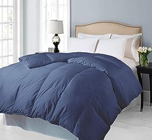 Blue Ridge Home Fashions 700 Thread Count Full-Queen in Indigo Color Down Alternative COMFORTERS