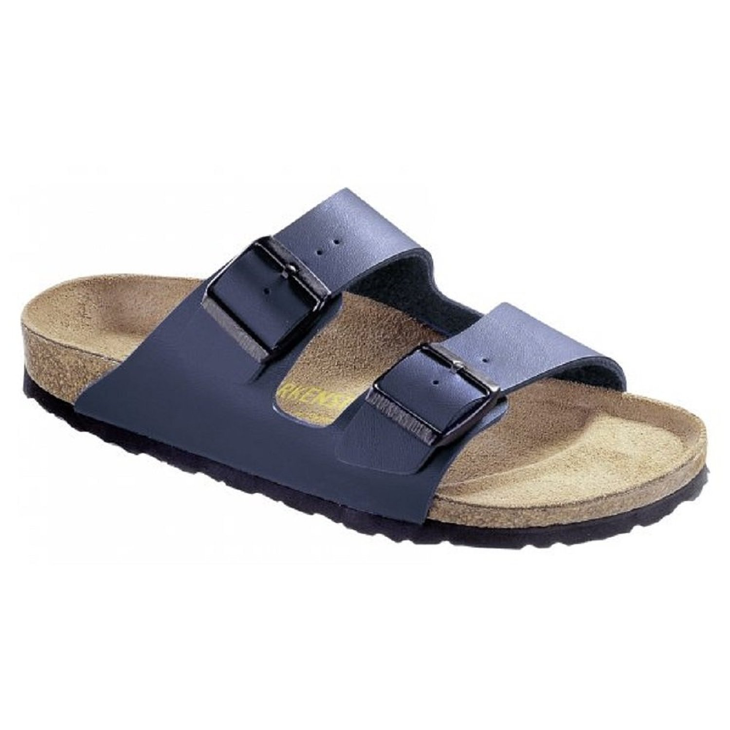 Birkenstock Women's Arizona 2-Strap Cork Footbed Sandal Blue 38 M EU