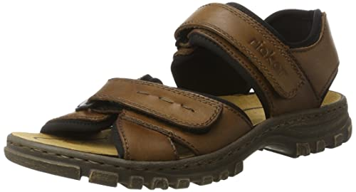 94e7290efd67 Rieker Men s 25089 Sandals Brown (Toffee Schwarz 25) 7.5 UK