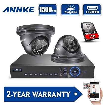 [1280*720P HD] ANNKE Kit de 2 Cámaras de Vigilancia Seguridad (Onvif