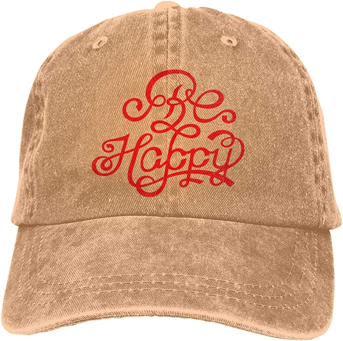 GAOFEIhat Be Happy Unisex Adult Denim Hats Cowboy Hat Dad Hat Driver Cap