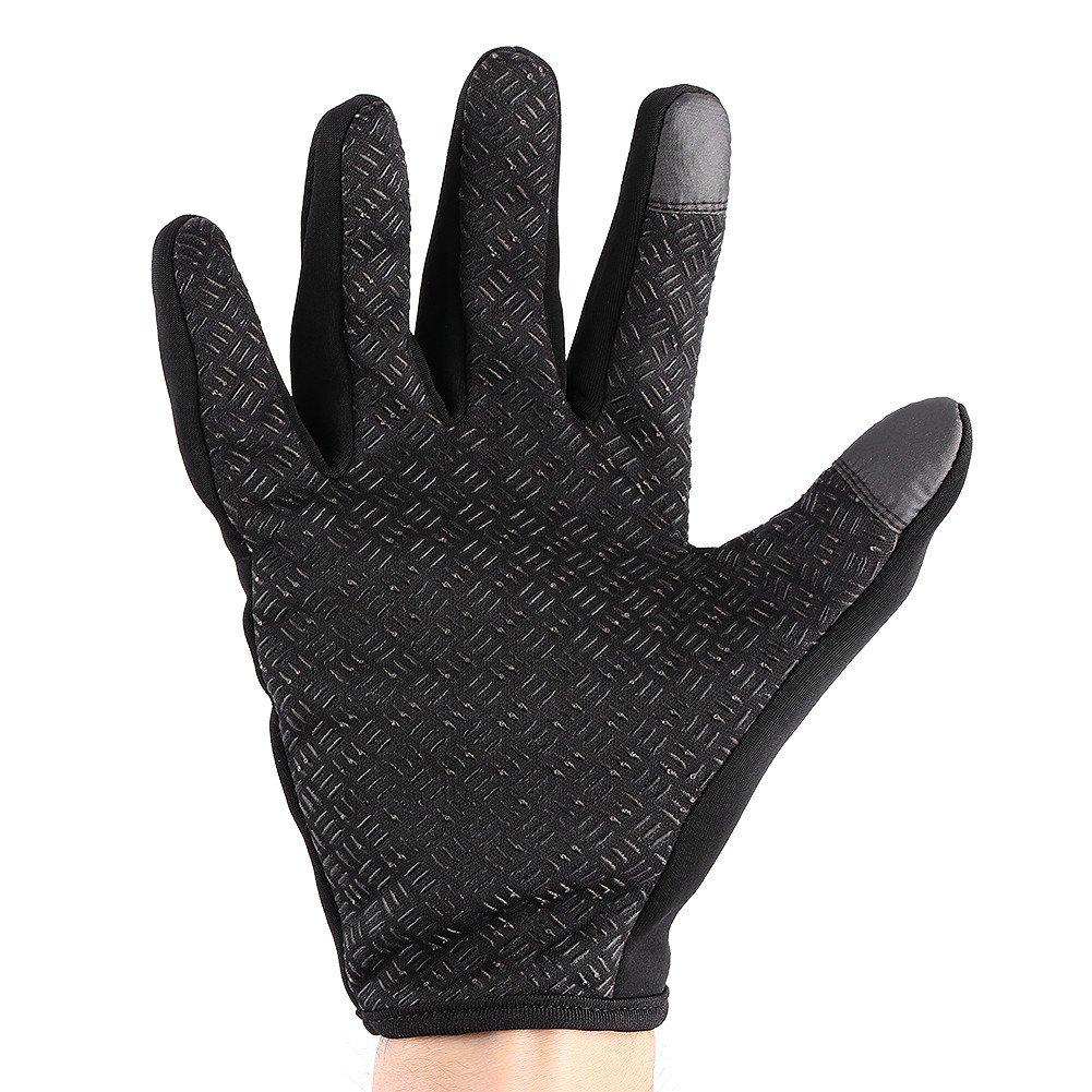 Waterproof Windproof Winter Warm Ski Gloves L-Black 1 Pair Full Finger Touch Screen Motorcycle Gloves